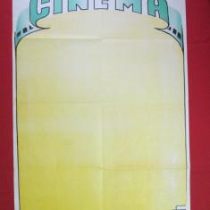 Afis cinema vechi blanc, afis film necompletat perioada comunista
