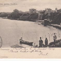 SALUTARI DIN CONSTANTA, VEDEREA ORASULUI PARTEA NORDICA, CIRCULATA JAN.''903 - Carte Postala Dobrogea pana la 1904, Printata