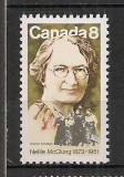 Canada.1973 100 ani nastere N.McClung-activista  MC.473, Nestampilat