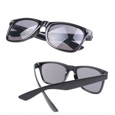 Ochelari soare model deosebit Retro Vintage negru plastic - Ochelari stil wayfarer, Unisex