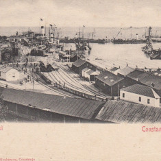 CONSTANTA, PORTUL CLASICA EDITURA D. NICOLAESCU CONSTANTA - Carte Postala Dobrogea pana la 1904, Necirculata, Printata