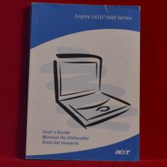 Carte- Manual de utilizare ACER 1410/1680 Series  - Ghid utilizator- Laptop #188, Alta editura