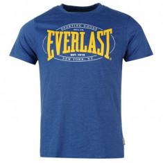 Tricou Baieti Albastru Everlast - Bumbac 100% - marime M/L - Tricou barbati Everlast, Marime: L, Maneca scurta