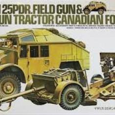 + Macheta Tamiya 35044 1/35 - Br.25PDR Gun Quad Tractor + - Macheta auto