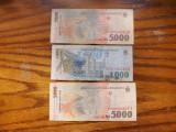 Romania  Lot   bancnote :  1000 Lei/1998 ; 2 x 5000 lei/1998