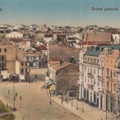CONSTANTA, VEDERE GENERALA SI CENTRUL, CIRCULATA - Carte Postala Dobrogea dupa 1918, Printata