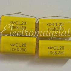 Condensator 10uF - 250v cu polipropilena pentru filtre de boxe