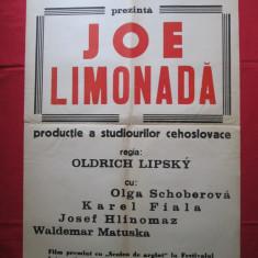 Afis cinema Joe Limonada, Cehoslovacia - 1964, afis film de colectie