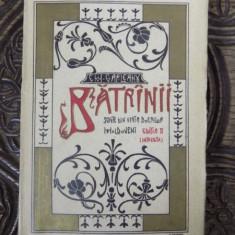 BATRANII, SCENE DIN VIATA BOIERILOR MOLDOVENI de EMIL GARLEANU, BUC. 1909 - Carte Editie princeps