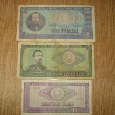 LOT 3 BANCNOTE ROMANIA ANUL 1966 - Bancnota romaneasca
