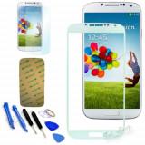 Sticla Display Fata Samsung Galaxy S4 i9500 ALB + folie adeziva si scule
