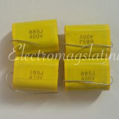 Condensator 6, 8 uF - 400v cu polipropilena pentru filtre de boxe