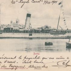 CONSTANTA, PORTUL, CIRCULATA OCT. ''01 - Carte Postala Dobrogea pana la 1904, Printata