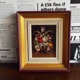 Tablou flori / pictura ulei - Tablou autor neidentificat, Altul
