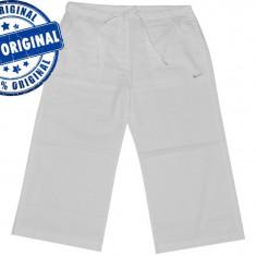 Pantalon dama Nike Sport - pantaloni originali - Pantaloni dama Nike, Marime: 40, Culoare: Alb, Trei-sferturi, Bumbac