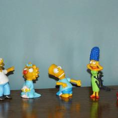 Lot 5 figurine familia Simpson vintage 1990 cu stanta The Simpsons - Figurina Desene animate