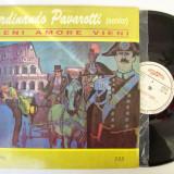 Disc vinil FERDINANDO PAVAROTTI (senior) - Vieni amore vieni (Eurostar CDS 061)