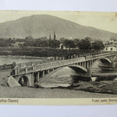 CARTE POSTALA PIATRA NEAMT PODUL PESTE BISTRITA, LIBRARIA V.IONESCU NR.22-1931 - Carte Postala Moldova dupa 1918, Circulata, Printata