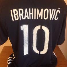 TRICOU IBRAHIMOVIC SUEDIA EURO 2016 MARIMI XS, S, M, L, XL - Tricou echipa fotbal, Marime: M, Culoare: Din imagine, Nationala, Maneca scurta