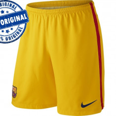Pantalon barbat Nike FC Barcelona - pantaloni originali - Pantaloni barbati Nike, Marime: M, Culoare: Galben, Scurti, Poliester