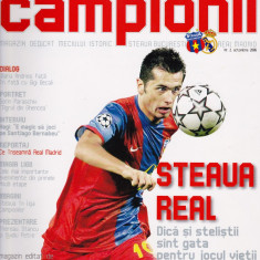 Revista fotbal  - program meci STEAUA BUCURESTI - REAL MADRID 02.10.2006