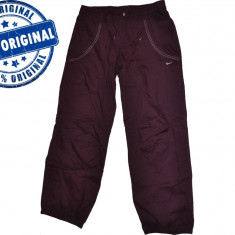 Pantalon dama Nike Training - pantaloni originali, Lungi, Visiniu, M, S
