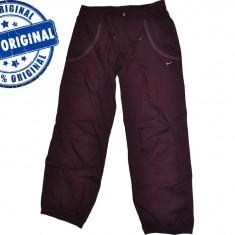 Pantalon dama Nike Training - pantaloni originali - Pantaloni dama Nike, Marime: S, M, Culoare: Visiniu, Lungi, Bumbac