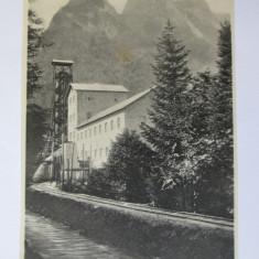 FOTO/VEDERE FABRICA DE CELULOZA BUSTENI COLECTIA AL.ANTONIU ANII 20 - Fotografie, Alb-Negru, Cladiri, Romania 1900 - 1950