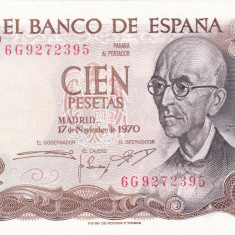 SPANIA 100 pesetas 1970 AUNC+!!!