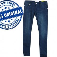 Blugi dama Adidas Sknny - pantaloni originali - blugi skinny, Marime: 25, 26, 27, 28, Culoare: Albastru, Lungi, Joasa