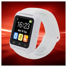 SMART WATCH Ceas inteligent Bluetooth U80 iPhone Samsung Android Alb