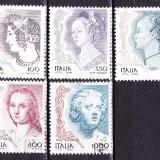 Timbre ITALIA 1998 = FEMEI IN ARTA, SERIE COMPLETA