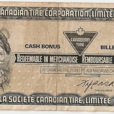CANADIAN TIRE CORPORATION LIMITED 50 CENTS CENTI VF ND - bancnota america, An: 1975