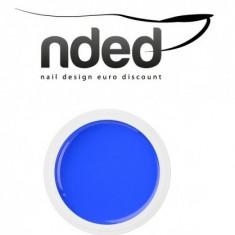 Gel UV NDED Germania color cu aspect UMED, albastru intens, 5 ml, art.9422 - Gel unghii Nded, Gel colorat