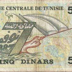 TUNISIA 5 DINARS 1993 U - bancnota africa