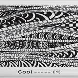 Matrita metalica pentru unghii Placuta medie Model Cooi 015 - Model unghii