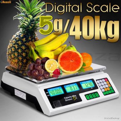 CANTAR PIATA  MAGAZIN ELECTRONIC Digital  AFISAJ DUBLU 40 kg foto
