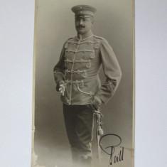 CALITATE! FOTO PE CARTON 21 X 10, 5 CM GEORG MICHEL STRASSBURG 1905, OFITER PRUSAC - Fotografie, Alb-Negru, Portrete, Europa