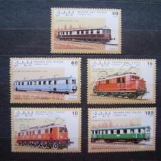 Trenuri locomotive - serie nestampilata MNH - Sahara 1992 - Timbre straine