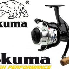 Mulineta Okuma Longbow Baitfeeder 670 Manivela Lemn Excelenta 6 Rulmenti 0.LG670