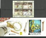 MACEDONIA 2014 EUROPA CEPT INSTRUMENTE MUZICALE IN CARNET