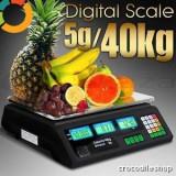CANTAR ELECTRONIC piata 40 kg afisaj digital DUBLU - Cantar comercial