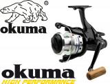Mulineta Okuma Longbow Baitfeeder 665 Manivela Lemn Excelenta 6 Rulmenti 0.LG665, Crap