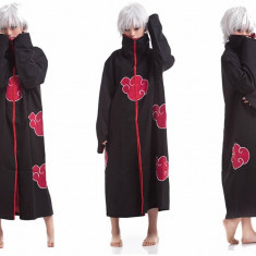 Costum Naruto Itachi Akatsuki Uchiha Obito Anime Cosplay roba Halloween +CADOU! - Costum Halloween, Marime: Marime universala, Culoare: Din imagine