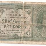 BOHEMIA BOEMIA SI MORAVIA 5 COROANE KORUN 1940 U