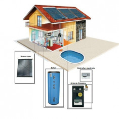 Sistem Solar Presurizat 9-10 persoane 500 litri - Panouri solare presurizate - Panou solar