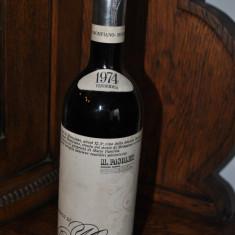 STICLA DE VIN VECHI DE COLECTIE AN 1974, RONCO DI MOMPIANO - Vinde Colectie, Aroma: Demi-sec, Sortiment: Rosu, Zona: Europa