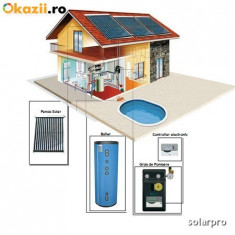 Sistem Solar Presurizat 7-8 persoane 400 litri - Panouri solare presurizate - Panou solar