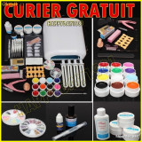 KIT UNGHII FALSE,SET MANICHIURA 12 GEL COLOR,LAMPA UV, Thebodyshop