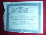 3 Certificate Provizorii Actiuni Soc. Miniera MICA 1941-1945 ,Ed.Craiova Scrisul